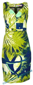 Elise & Clemence Womens Fireworks Print Dress - Lime