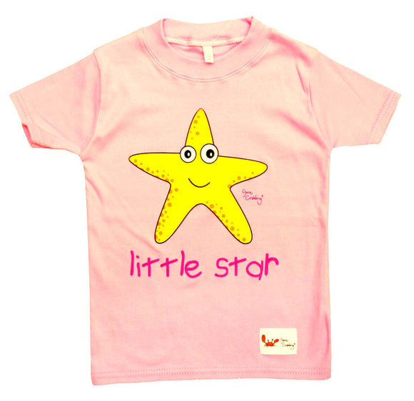 Gone Crabbing Kids 'Little Star' T-Shirt - Pink