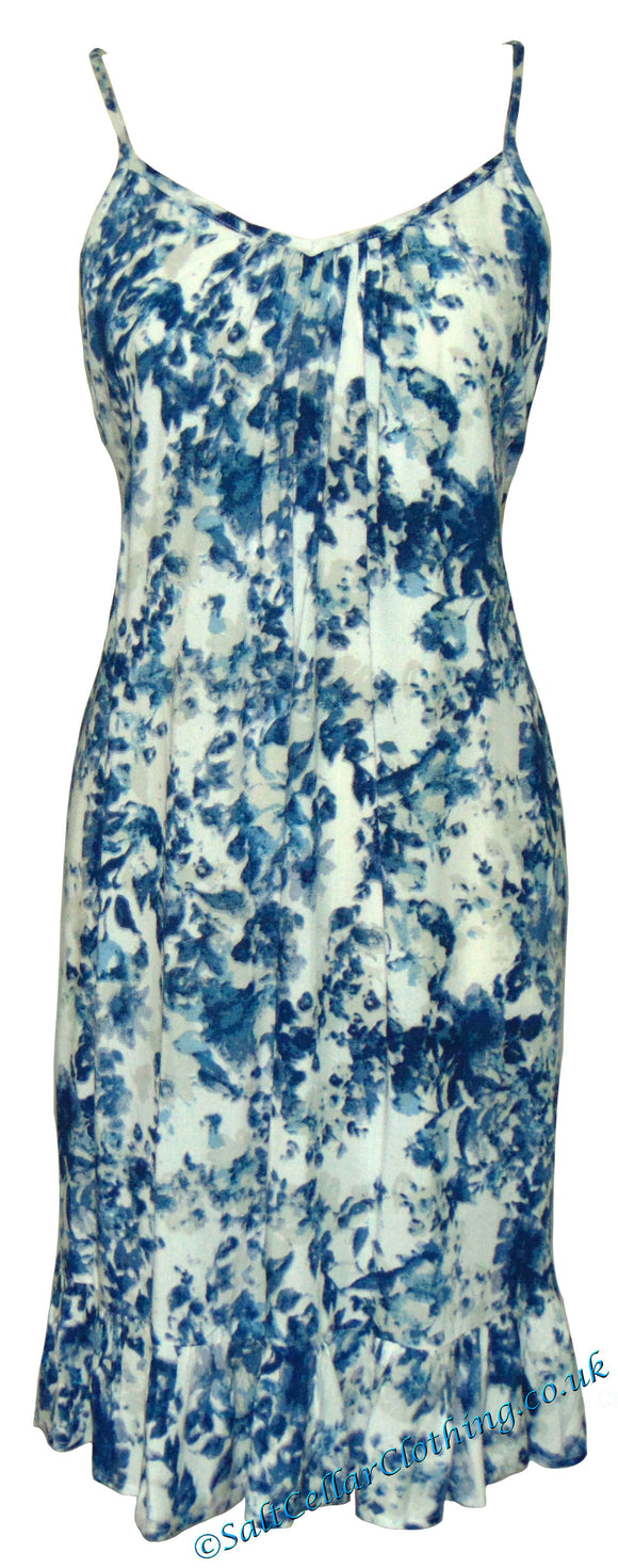 Goubi Womens 'B31' Sleeveless Dress - Blue / White
