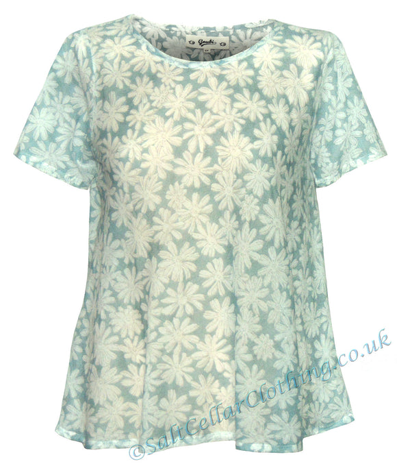 Goubi Womens 'RV01' Lightweight Sheer T-Shirt - Margarite Floral