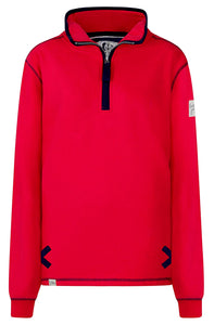 Lazy Jacks Unisex 'LJ3' Zip Neck Sweatshirt - Cerise