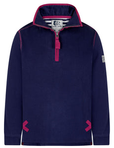 Lazy Jacks Unisex 'LJ3' Zip Neck Sweatshirt - Twilight Navy
