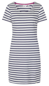 Lazy Jacks Womens 'LJ115' Short Sleeved Stripe Dress - Twilight
