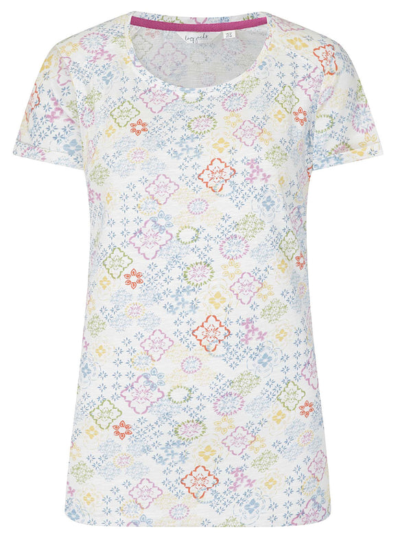 Lazy Jacks Womens 'LJ163A' Short Sleeve Tee - Moroccan Print