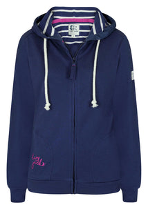 Lazy Jacks Womens 'LJ249' Lightweight Hoody - Twilight Blue