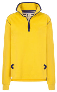 Lazy Jacks Unisex 'LJ3' Zip Neck Sweatshirt - Gorse Yellow