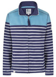 Lazy Jacks Womens 'LJ32' Full Zip Stripe Sweatshirt - Reef Blue