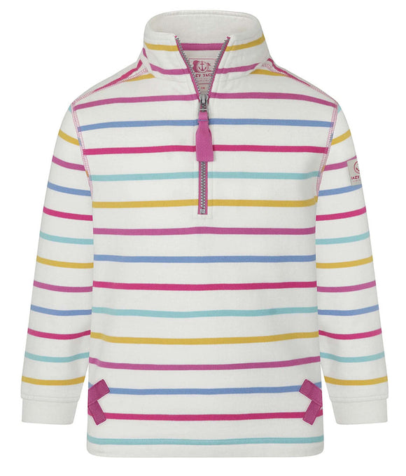 Lazy Jacks Kids 'LJ35C' 1/4 Zip Sweatshirt - Periwinkle / Multicoloured