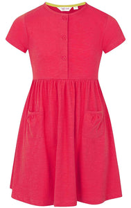Lazy Jacks Kids 'LJ374C' Short Sleeved Dress - Cerise