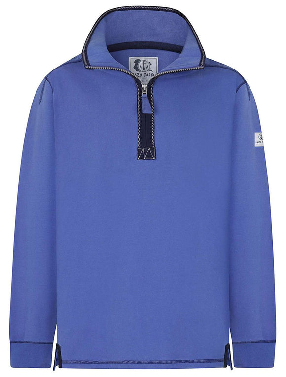 Lazy Jacks Mens 'LJ40' 1/4 Zip Neck Sweatshirt - Bright Blue