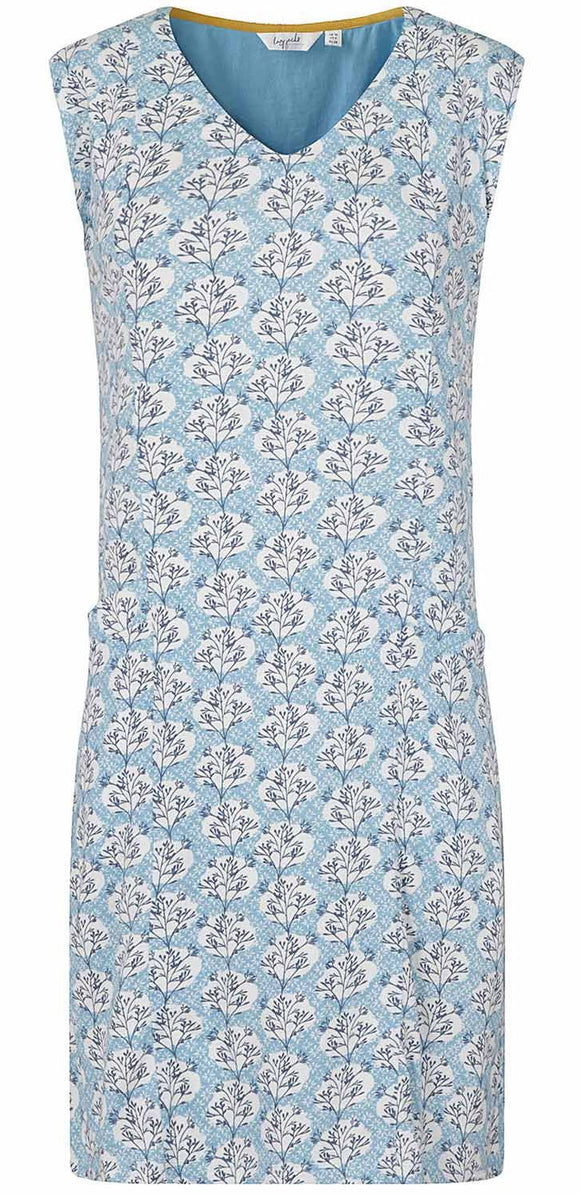 Lazy Jacks Womens 'LJ500' Floral Sleeveless Dress - Stem Print
