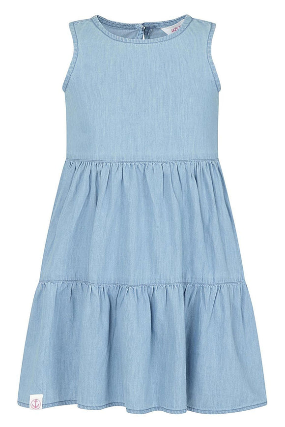 Lazy Jacks Kids 'LJ503C' Sleeveless Dress - Denim Blue
