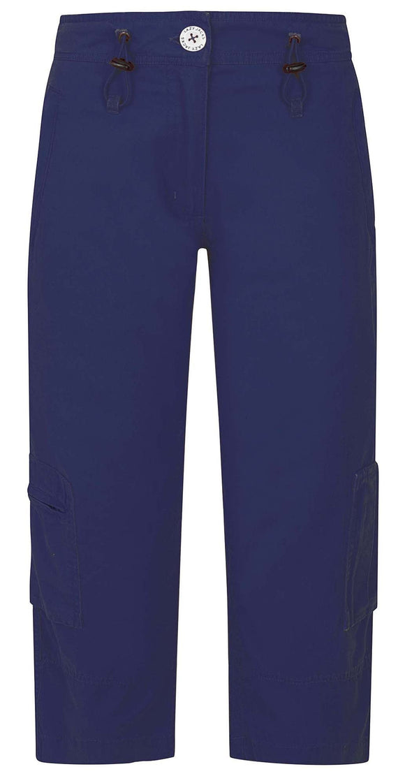 Lazy Jacks Womens 'LJ4' Capri Trousers - Twilight Blue