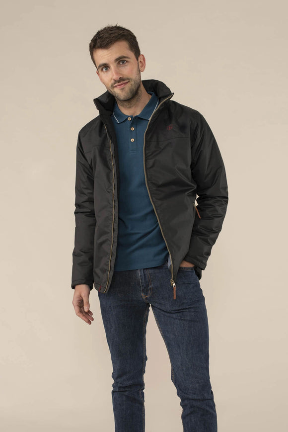 Lighthouse Mens 'Harbour' Rain Jacket - Black