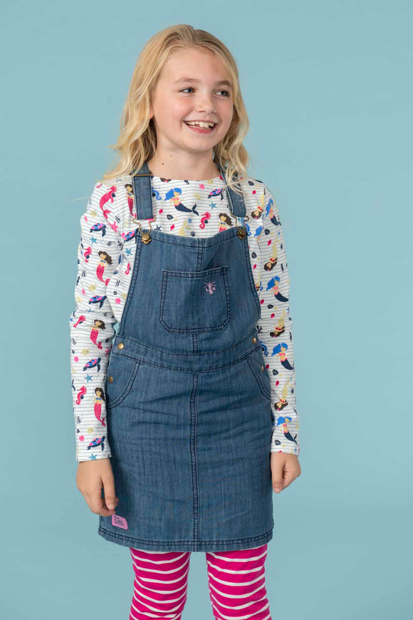 Lighthouse Kids Maisie Pinafore Dress - Washed Denim