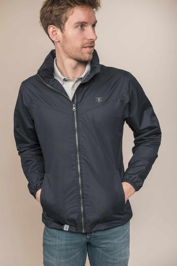 Lighthouse Mens 'Portland' Waterproof Rain Jacket - Navy
