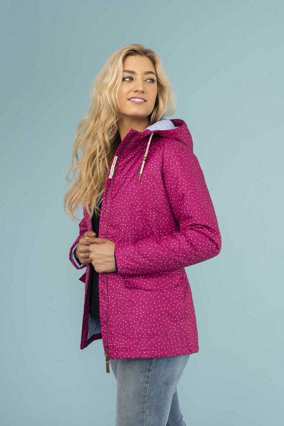 Lighthouse Womens 'Aria' Raincoat - Jazzberry Dot