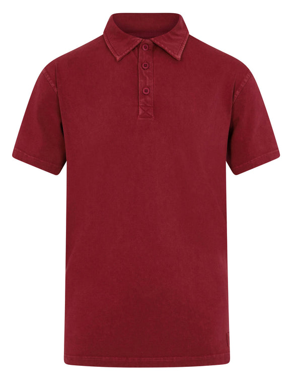 Mousqueton Mens 'Awen' Polo Shirt - Brick / Dark Red