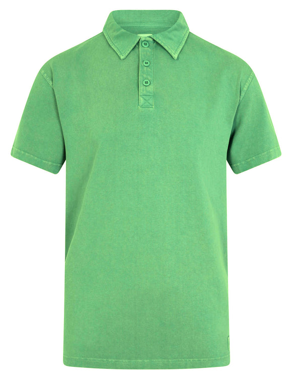 Mousqueton Mens 'Awen' Polo Shirt - Opal Green