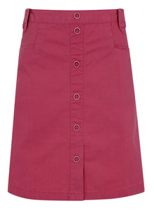 Mousqueton Womens 'Klarinette' Button Skirt - Raspberry Pink