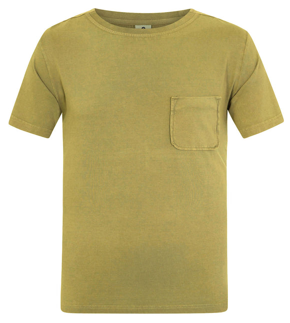 Mousqueton Mens 'Solal' Washed Look Cotton T-Shirt - Seaweed