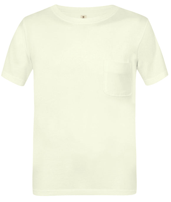 Mousqueton Mens 'Solal' Washed Look Cotton T-Shirt - White