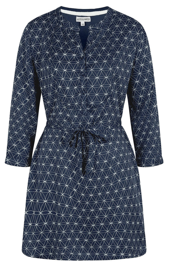 Mudd & Water Womens 'Daybreak' Tunic - Navy Circle Print