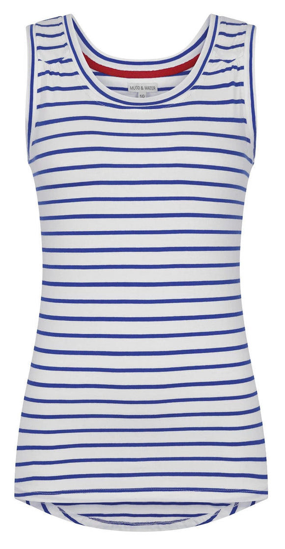Mudd & Water Womens 'Evelyn' Vest - Cobalt Blue Stripe