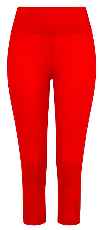 Mudd & Water Womens 'Island' Cropped Leggings - Salsa Red