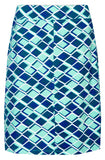 Mudd & Water Womens 'Pollen' Skirt - Azure Blue / Geometric Pattern