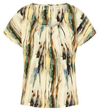 Mudd & Water Womens 'Sandy Bay' Top - Woodland Print