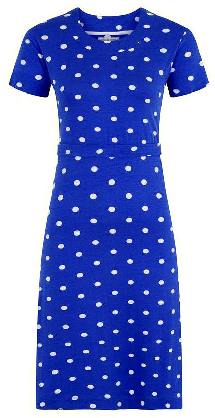 Mudd & Water Womens 'Hourglass' Dress - Cobalt Blue / White Polka Dot