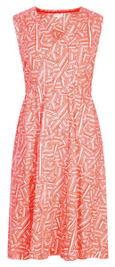 Mudd & Water Womens 'Alice' Sleeveless Dress - Peach / Triangle Pattern