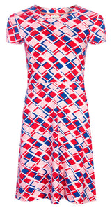 Mudd & Water Womens 'Hourglass' Dress - Pink / Red / Blue