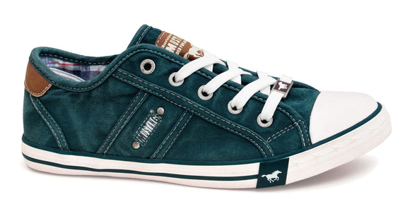 Mustang Womens Lace Up Shoes - Teal