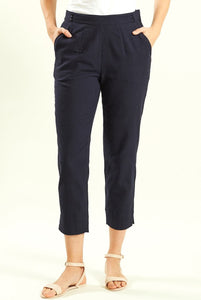 Nomads Womens Slim Crop Trousers - Navy
