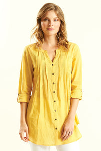 Nomads Womens Pleat Detail Tunic Shirt - Honey