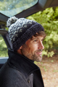 Pachamama Adults 'Clifden' Knitted Bobble Beanie - Charcoal Grey