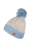 Pachamama Adults 'Kinsale' Knitted Bobble Beanie - Powder Blue
