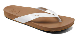 Reef Womens 'Cushion Bounce Court' Flip Flops - Cloud White