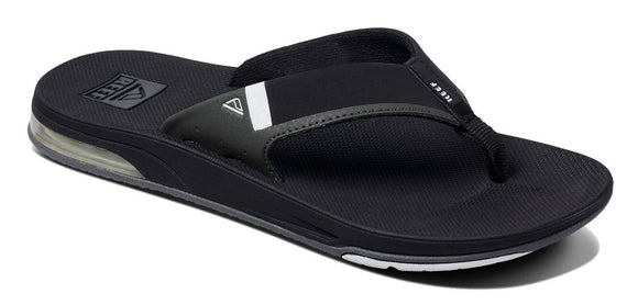 Reef Mens 'Fanning Low' Bottle Opener Flip Flops - Black / White