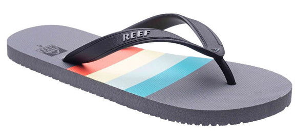 Reef Mens 'Switchfoot Prints' Flip Flops - Grey / Aqua