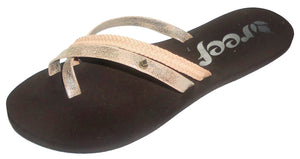 Reef Womens 'O'Contrare ' Flip Flops - Brown / Gold