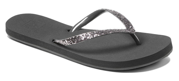 Reef Womens 'Stargazer' Glitter Flip Flops - Shadow Grey