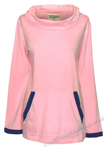 Stonewashed Clothing Womens 'SW5' Cowl Neck Top / Tee - Pink