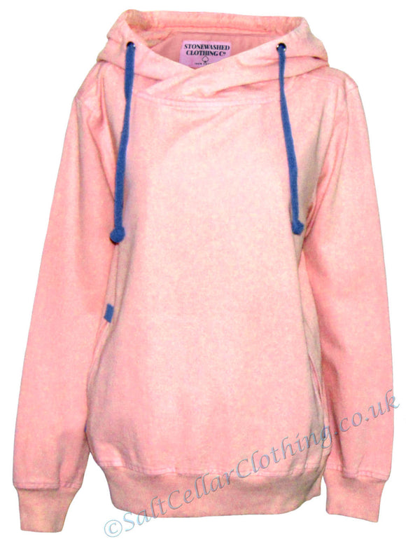 Stonewashed Clothing 'SW6' Hooded Smock - Rose Shadow Pink