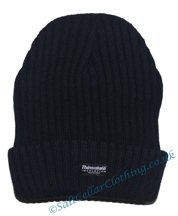 Thinsulate Mens Knitted Fleece Lined 'Danny' Beanie Hat - Black