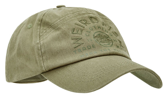 Weird Fish Mens Branded 'Brawn' Cap - Burnt Olive.
