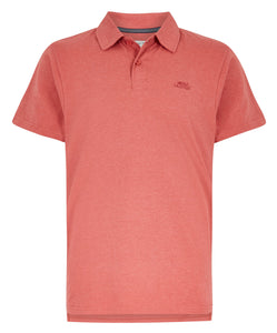 Weird Fish Mens 'Quay' Jersey Polo Shirt - Berry