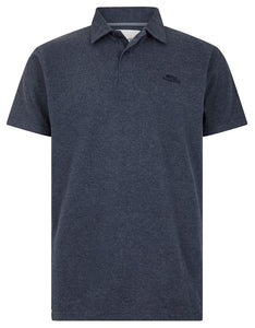Weird Fish Mens 'Quay' Jersey Polo Shirt - Navy Marl